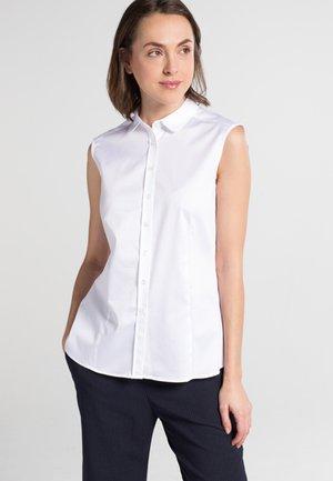 OHNE ARM MODERN CLASSIC - Button-down blouse - white