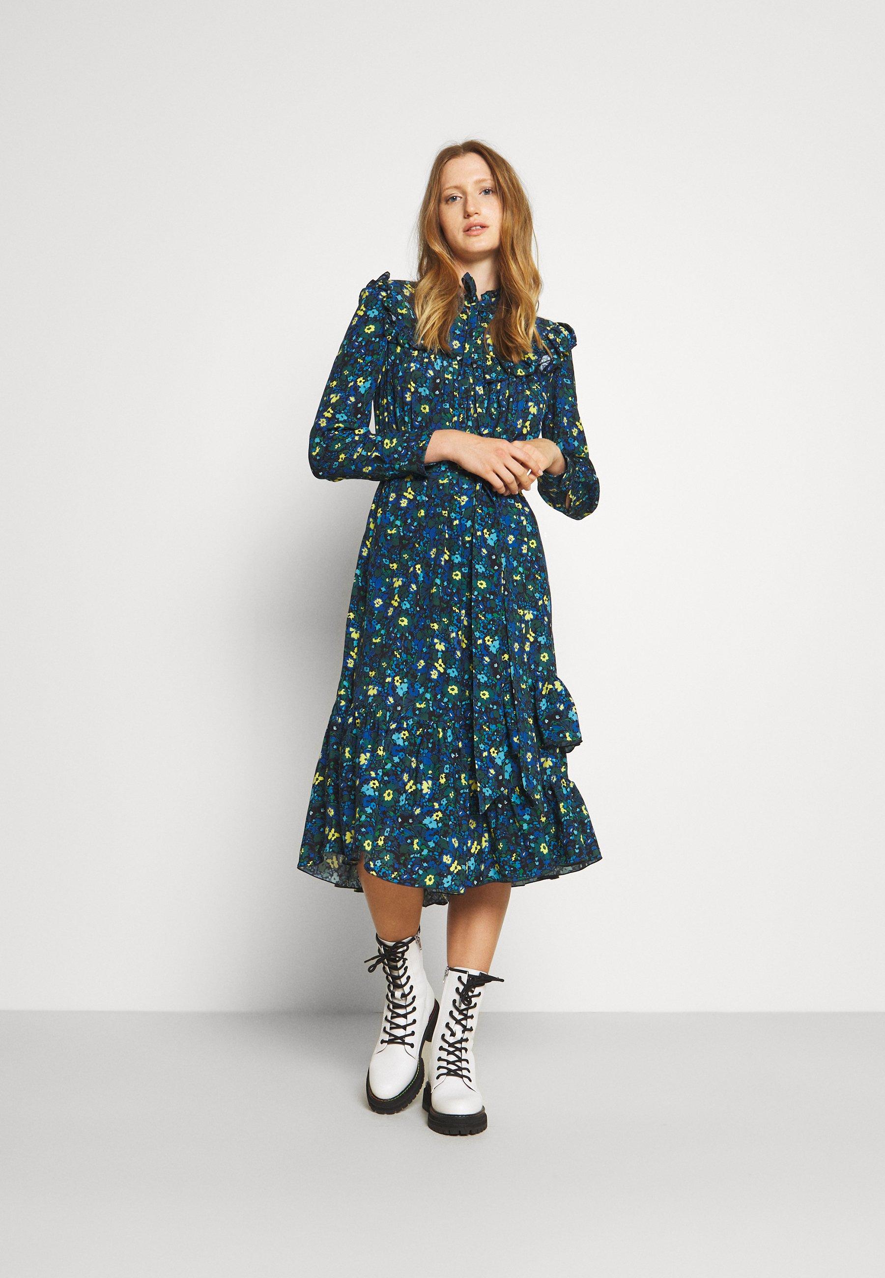 Women RUFFLE PRINT DRESS - Day dress