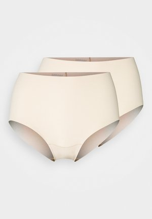 DREAM ORGANICS PANTY 2 PACK - Onderbroeken - latte