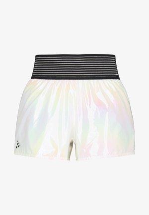 SHINY SPORT SHORTS - Sports shorts - silver
