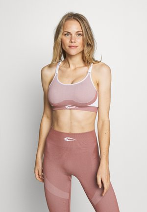 SEAMLESS SPORT ULTIMATE - Medium support sports bra - altrosa