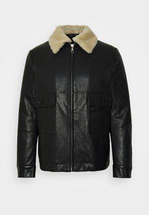 GRYT - Leather jacket - schwarz