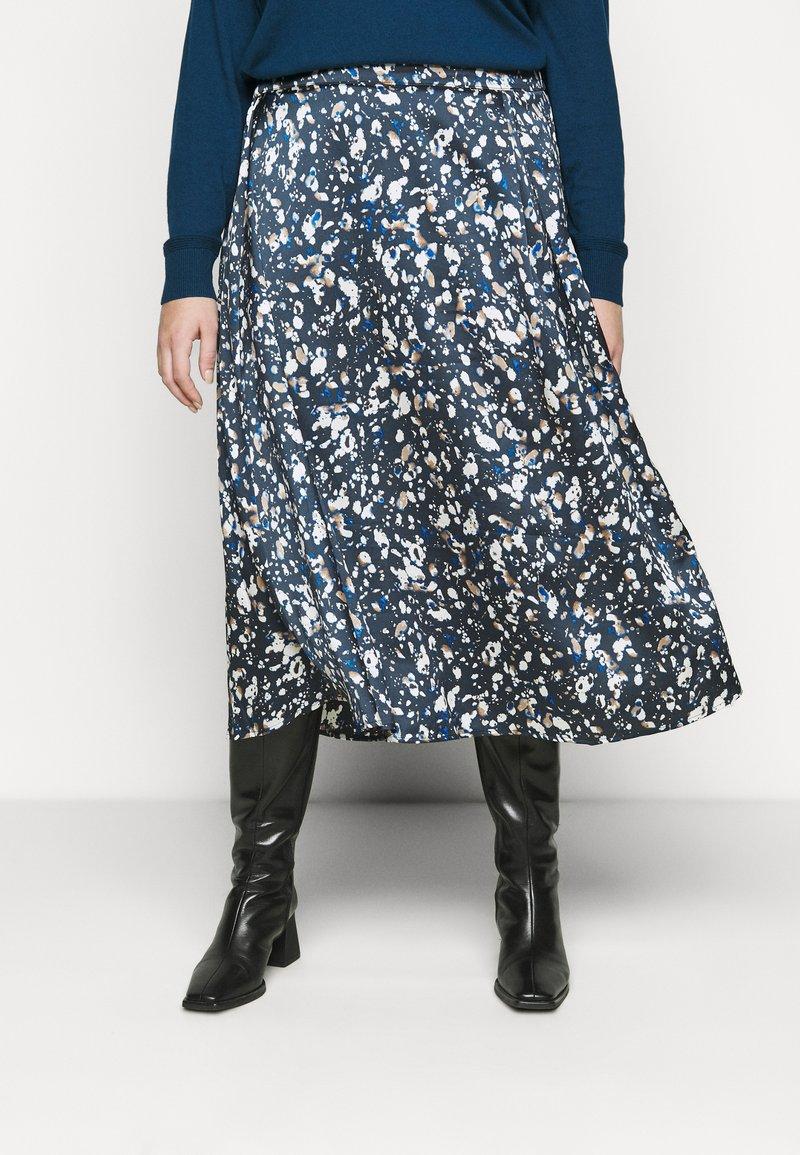 Kaffe Curve - KCBINE SKIRT - A-line skirt - midnight marine