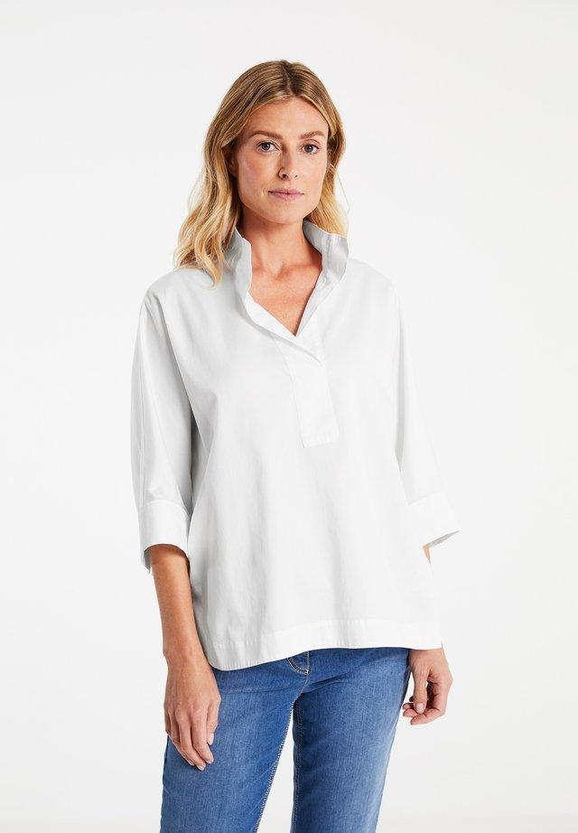 3/4 ARM  - Bluse - weiß/weiß
