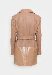 Trussardi - Leather jacket - tannin - 1