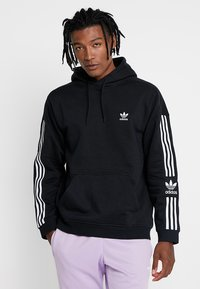 adidas Originals - ADICOLOR TECH HOODIE - Hoodie - black - 0