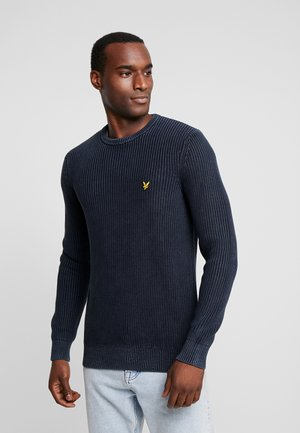 RIBBED JUMPER - Jumper - dark navy