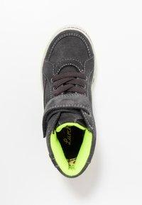 Lurchi - BARNEY-TEX - Sneaker high - charcoal/neon yellow - 1