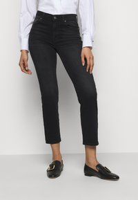 7 for all mankind - THE STRAIGHT CROP SOHO - Straight leg jeans - black - 0