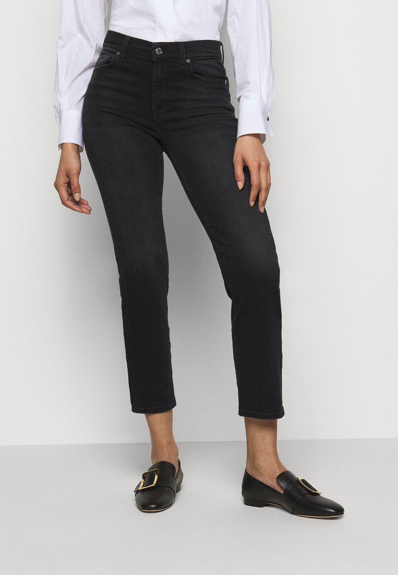 7 for all mankind - THE STRAIGHT CROP SOHO - Straight leg jeans - black
