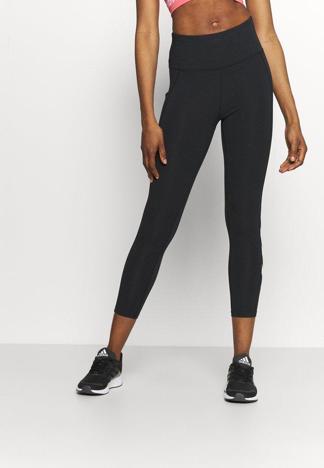 HMLMACI HIGH WAIST 7/8  - Leggings - black