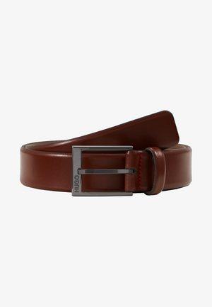 GARNEY - Pásek - medium brown
