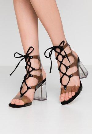 RESORT LACE PERSPEX - High heeled sandals - black