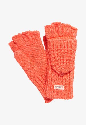 CLARRIE - Fingerless gloves - coral