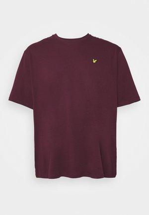 PLUS PLAIN - Jednoduché triko - burgundy