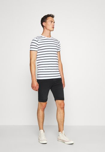 STRETCH SLIM FIT TEE - Basic T-shirt - white