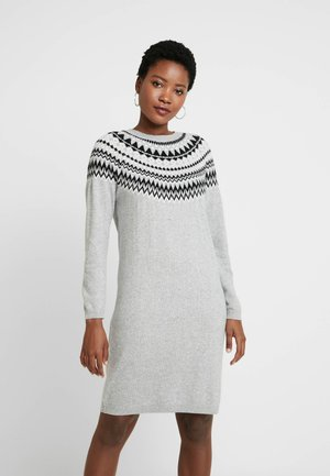 Jumper dress - grey/dark grey melange