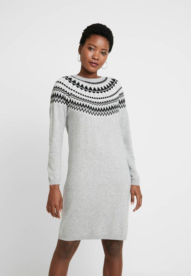 Jumper dress - grey/dark grey melange