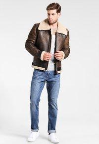 Goosecraft - LAMMY - Leather jacket - brown - 1