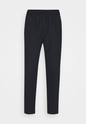FAVE BONDED BLEND PANT WITH ELASTICATED WAISTBAND - Trousers - navy
