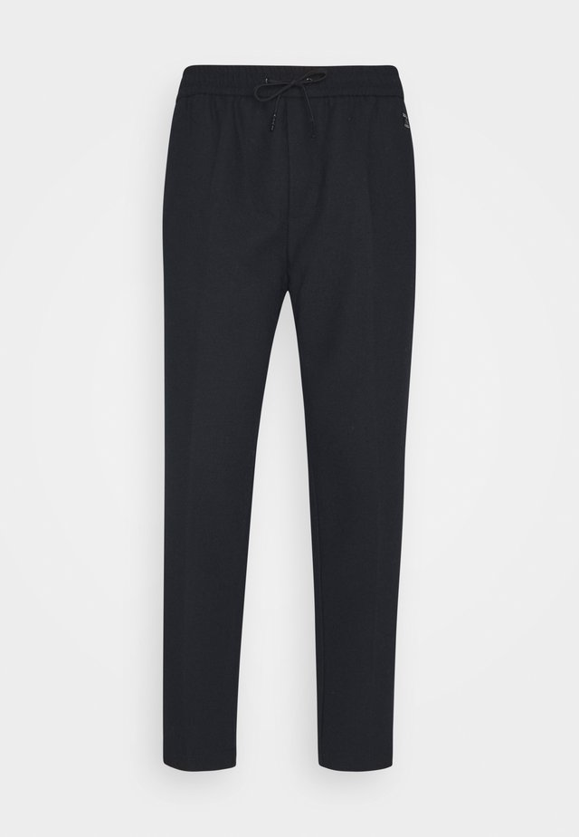 FAVE BONDED BLEND PANT WITH ELASTICATED WAISTBAND - Pantalones - navy