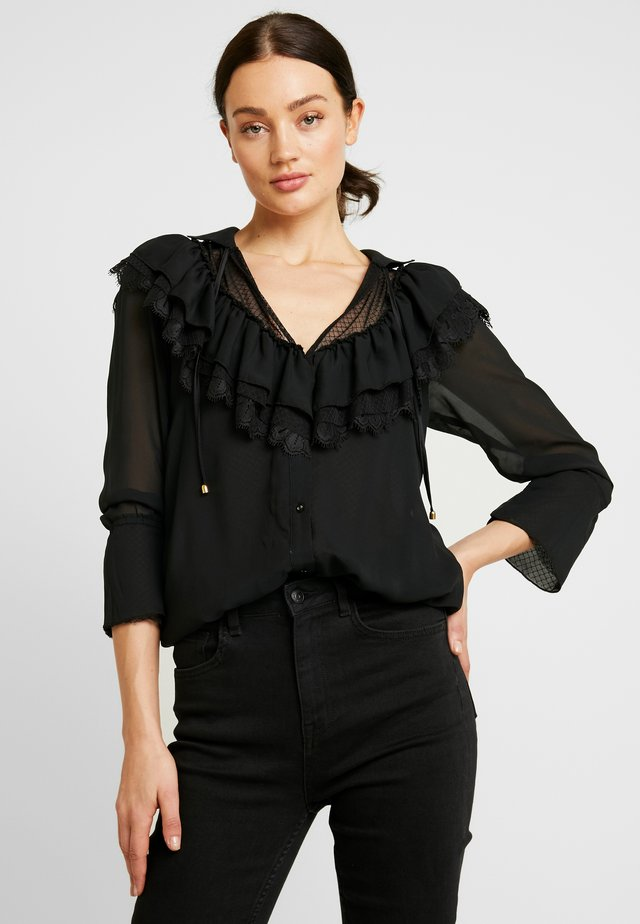 HEAVY NECKING BODYSUIT - Blouse - noir