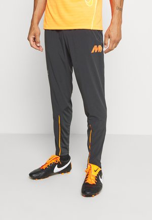 MERC DRY  - Tracksuit bottoms - dk smoke grey/total orange/total orange