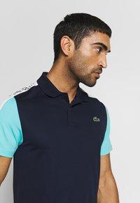 Lacoste Sport - TENNIS - Sports shirt - navy blue/haiti blue/white - 3