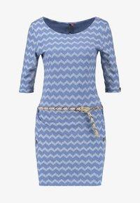 Ragwear - TANYA ZIG ZAG - Jersey dress - blue - 5