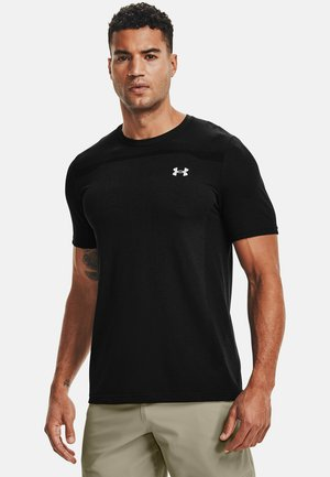 SEAMLESS SS - Print T-shirt - black