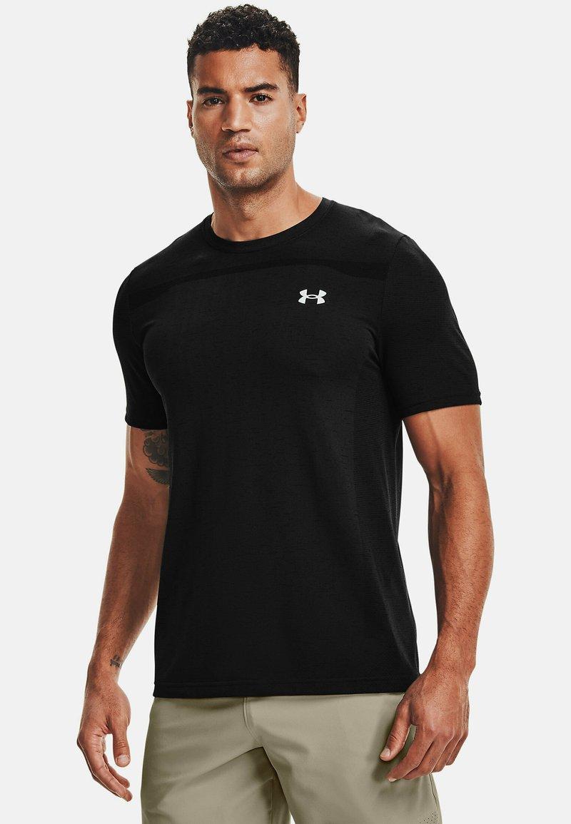 Under Armour - SEAMLESS SS - Print T-shirt - black
