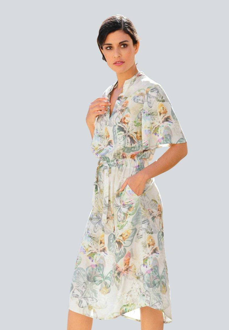 Alba Moda - Day dress - creme-weiß,lindgrün,grau