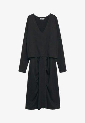 GLORIA - Day dress - zwart
