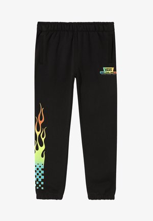 BY GLOW FLAME - Tracksuit bottoms - black
