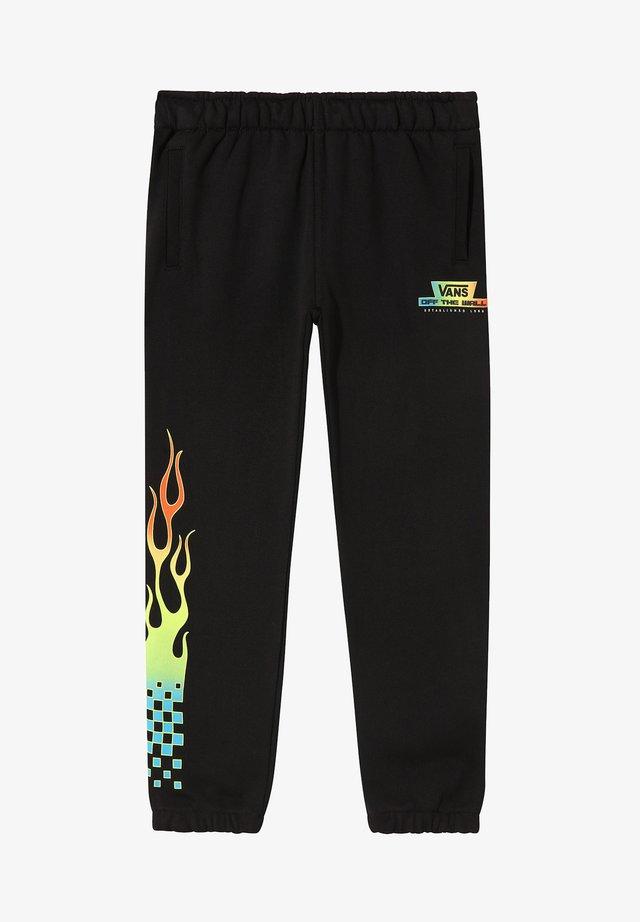 BY GLOW FLAME - Spodnie treningowe - black