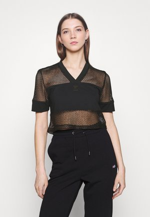NIVEO CROPPED - Print T-shirt - black