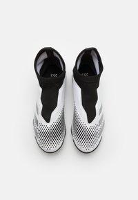 adidas Performance - PREDATOR 20.3 FOOTBALL BOOTS TURF UNISEX - Astro turf trainers - footwear white/silver metallic/core black - 3