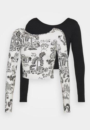 Camiseta de manga larga - black dark/white light