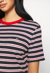 Tommy Jeans - STRIPED TEE DRESS - Jersey dress - twilight navy/white - 5