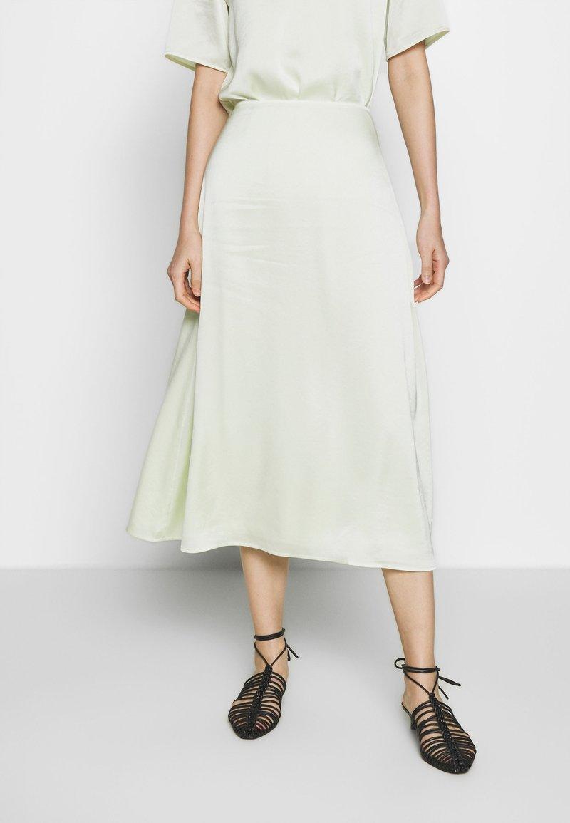Filippa K - ANGELA SKIRT - Spódnica trapezowa - pale lime