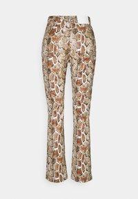 Proenza Schouler White Label - FAUX STRETCH PANTS - Kalhoty - maple multi - 1