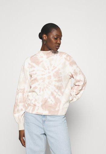 PATTERN MOCK CREW - Sweatshirt - pink spiral wash