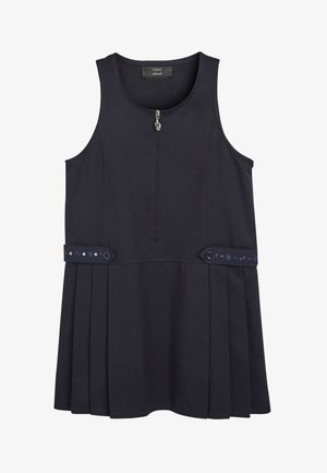 EMBROIDERED ZIP PINAFORE  - Day dress - blue