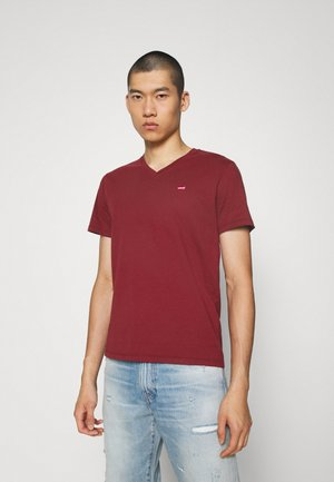 VNECK - Basic T-shirt - reds