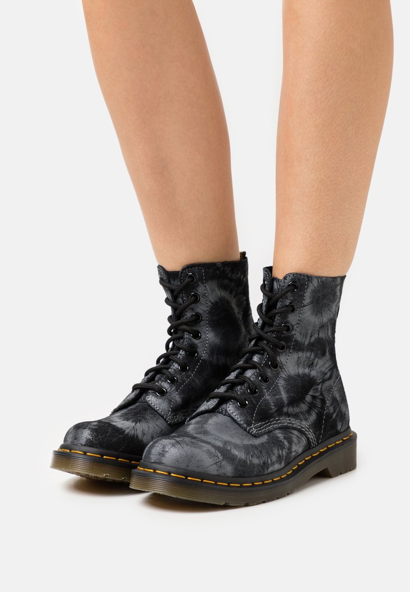 Dr. Martens - 1460 PASCAL - Lace-up ankle boots - black/charcoal grey