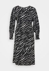 New Look Curves - SHIRRED DETAIL MIDI DRESS - Maxi dress - black pattern - 0