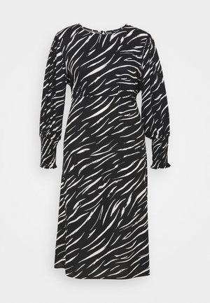 SHIRRED DETAIL MIDI DRESS - Maxi dress - black pattern