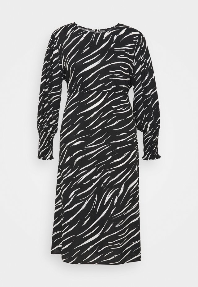 SHIRRED DETAIL MIDI DRESS - Maxi šaty - black pattern