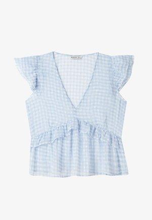 MIT VOLANT  - Bluse - light blue