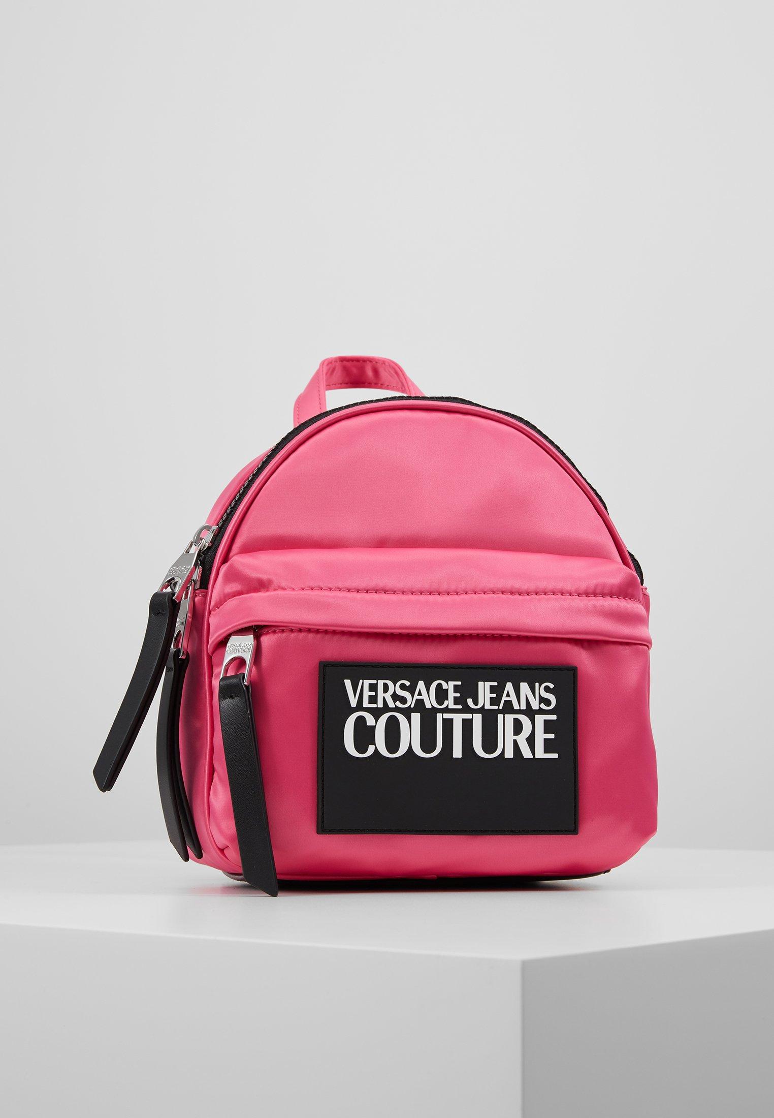 Fornitura Accessori Versace Jeans Couture TAB MINI BACKPACK Zaino fuxia